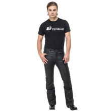 Sweep Bootcut leather jeans