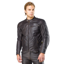 Sweep Asphalt leatherjacket, brown