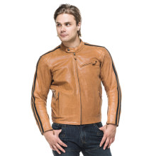 Sweep Asphalt leatherjacket, light brown