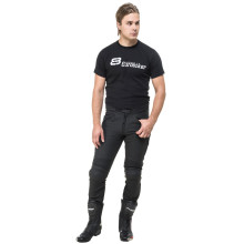 Sweep Cage leather pant