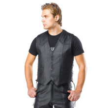 Sweep Classic leather vest, black