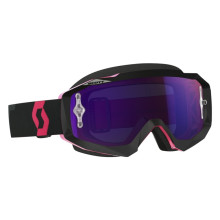 Scott Hustle MX goggles, black/fluo pink, purple chrome works