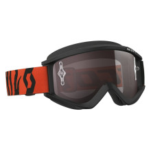 Scott Recoil Xi MX goggles, black/fluo orange, silver chrome works