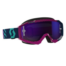 Scott Hustle MX goggles,blue/pink, purple chrome works