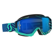 Scott Hustle MX goggles,blue/teal, blue chrome works