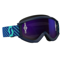 Scott Recoil Xi MX goggles, blue/teal, purple chrome works