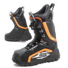 Sweep Snow Core snowmobile boot with laces, black/orange