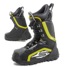 Sweep Snow Core snowmobile boot with laces, black/yellow