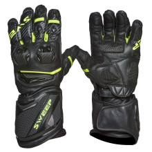 Sweep Chicane racing glove, black/yellow