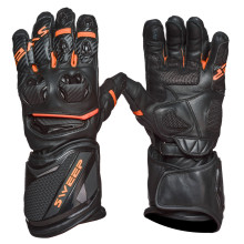 Sweep Chicane racing glove, black/orange