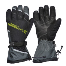 Sweep Blower snowmobile glove, black/grey/yellow