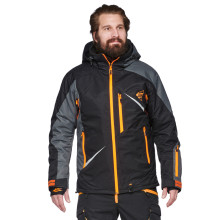 Sweep Scout snowmobile touring jacket, black/grey/orange