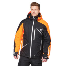 Sweep Scout snowmobile touring jacket, orange/black