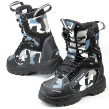 Sweep Yeti snowmobile boot, black/camo