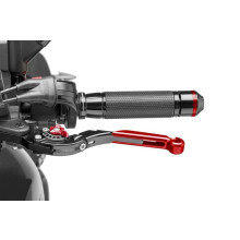 Puig Clutch Lever 16'C/Black Ext.C/Red Select.C/Red