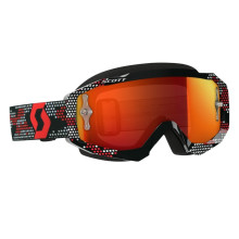 Scott Hustle MX goggles, black/red, orange chrome works