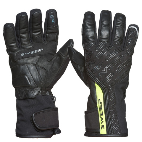 Sweep GS200 waterproof glove, black/yellow